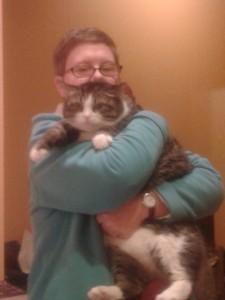 Ledcat gives Precious a squeeze
