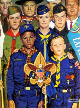 Detail from a 1970 Norman Rockwell painting