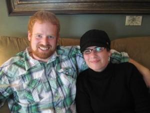 Matt and his sister.