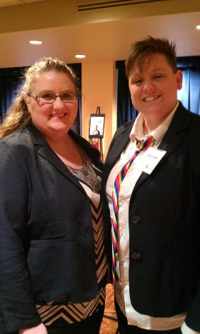 Me with my partner, Alicia Burns (Left)