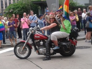 Miranda leads the Dykes on Bikes contingent every year. She'll see you at the Dyke March!