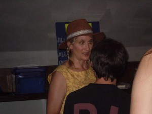 Jill talking with a fan - she talked to every single person at the show.