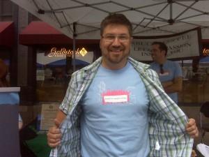 John volunteered with his team at Starbucks