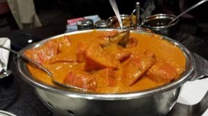 Dinner at Taj Majahl = leftovers in fridge