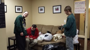 donation coat and blanket