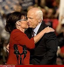 Sarah Palin kiss