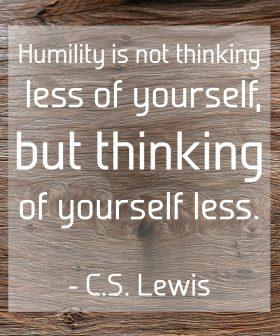 Humility CS Lewis