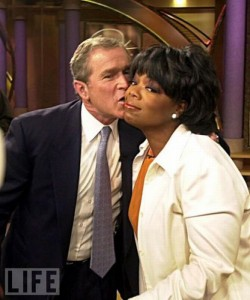 Oprah Kissing