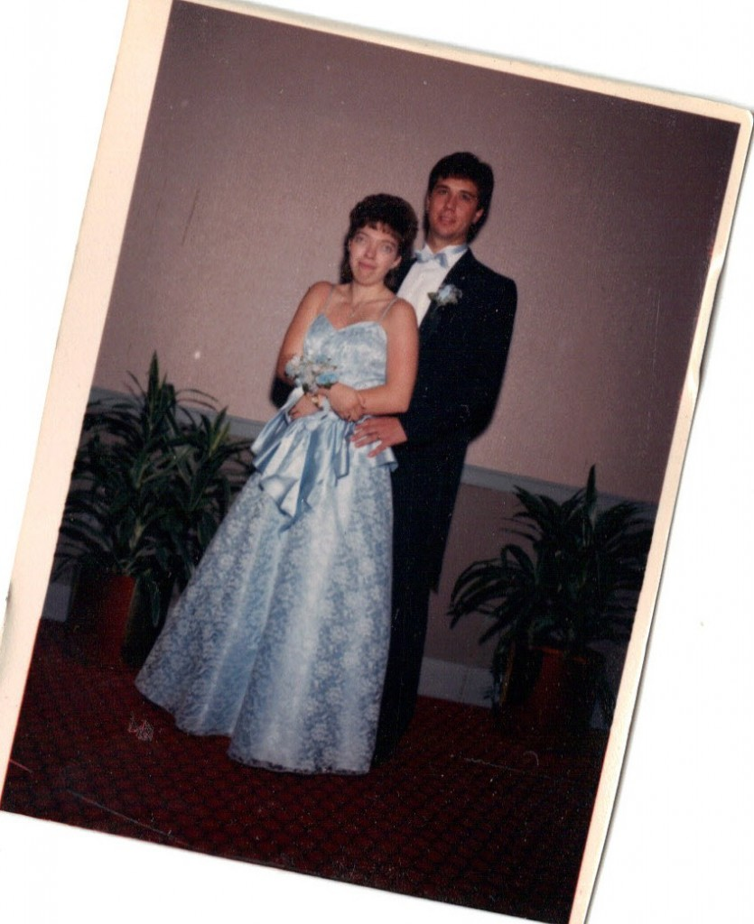 John and I at my prom in 1988.