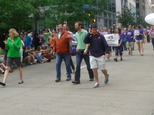 Bill Peduto in 2013 Pride Parade with other members of Council.