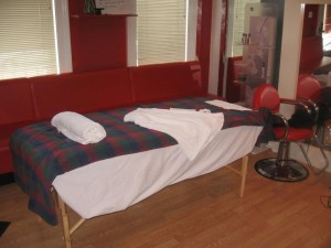 Joe's massage table.
