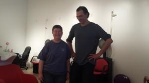 Ledcat (l) with Joe Skoski (r)