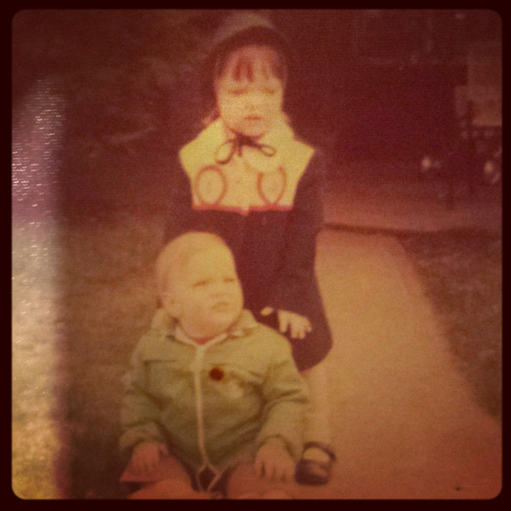 Circa 1973. Aren't we adorable?