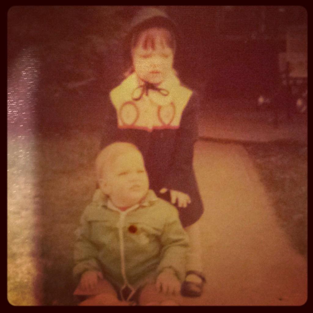Circa 1973. Aren't we adorable?