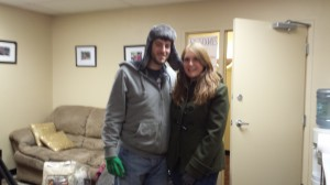 This couple stopped in one evening with a donation. This photo was very popular on Facebook and Twitter.