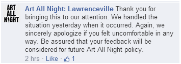 Response from Art All Night