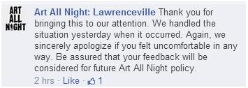 Response from Art All Night
