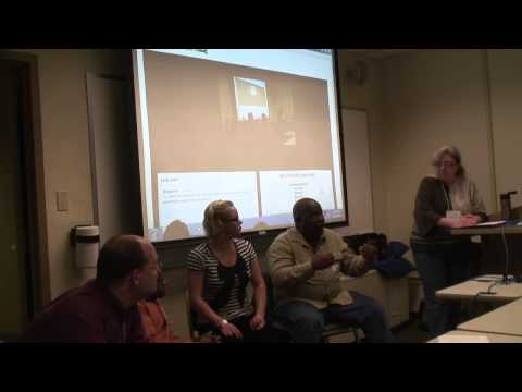 The closest I've come ... left to right:  Chris Potter, Chaz Kellem, Aria Charles, Tony Norman and me discussing diversity and language at Podcamp Pittsburgh in 2012.