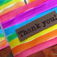 Rainbow Thank You Note