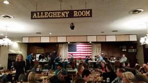 The Elks hall. Patriotic, but comfy.