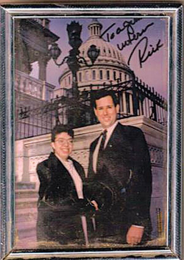 RIck Santorum Lesbian Pittsburgh Intern