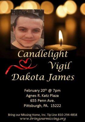 Vigil for Dakota James