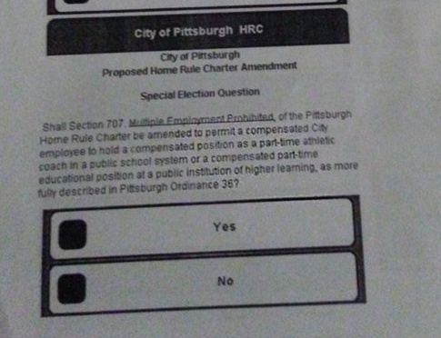 City of Pittsburgh Home Rule Charter Referendum