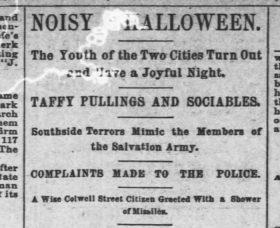 Halloween 1889 Pittsburgh