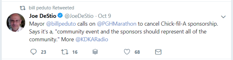 Pittsburgh Marathon Mayor Pedutor