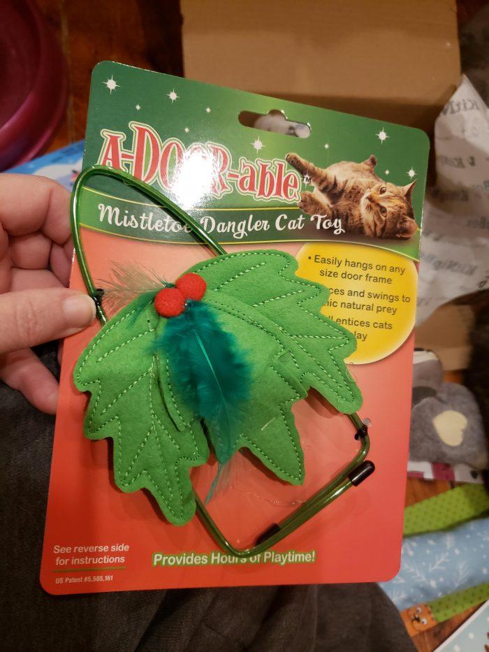 Playful Pet Mistletoe Door Dangler