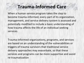Trauma Informed Care Persad Center