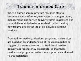 Trauma Informed Care Persad Center