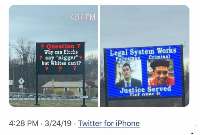 John Placek racist billboards Worthington Borough Armstrong County