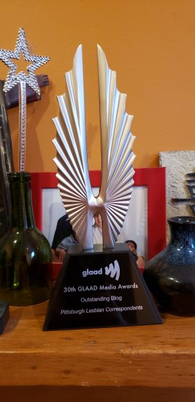 GLAAD award outstanding blog