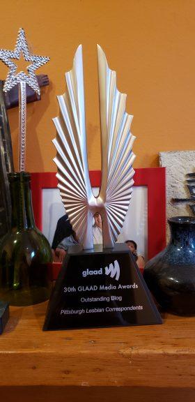 GLAAD award outstanding blog