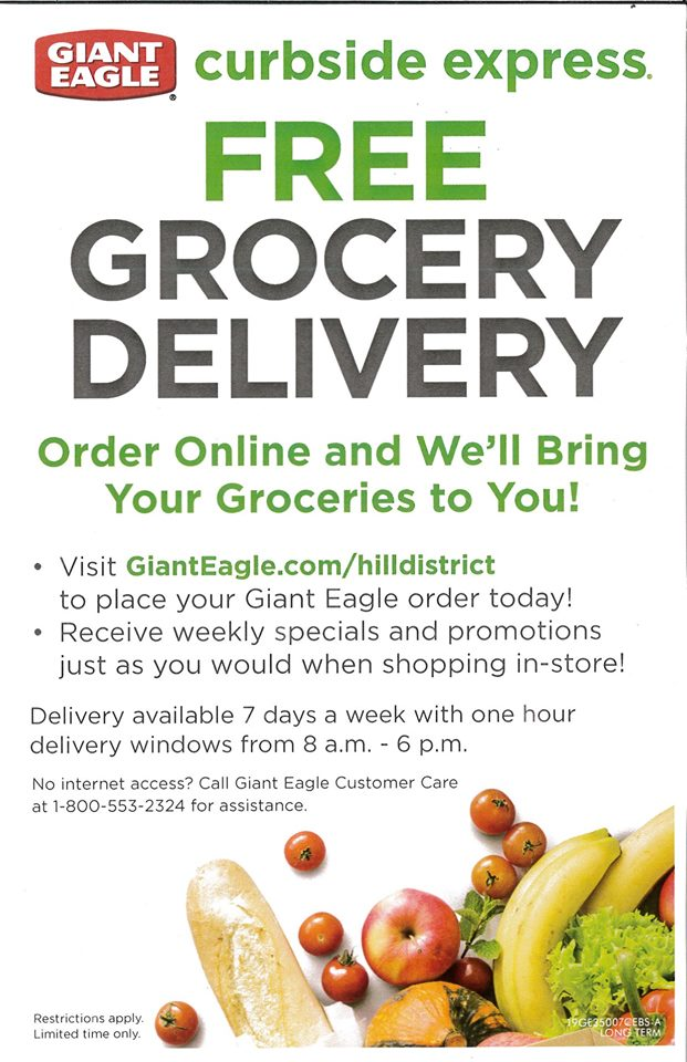 Giant Eagle Free Grocery Delivery Hill District