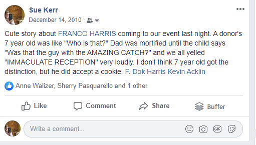 Franco Harris cute story