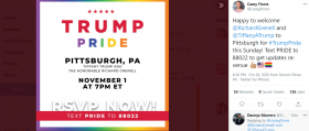 Trump Pride Rally Pittsburgh